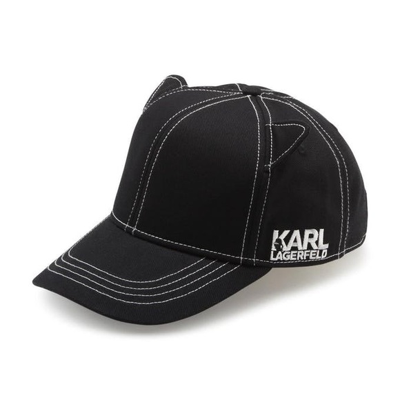 2ecb8d9e3b8 Karl Lagerfeld Cat Ear Baseball Hat